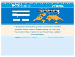 ActiHealth Login page